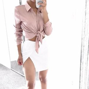 Forever 21 Tops - Satin blouse - Rose gold a5dee9a50